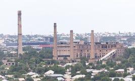 Завод трубы в Shymkent kazakhstan стоковые фотографии rf