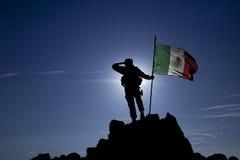 Завоеватель с флагом стоковые фото