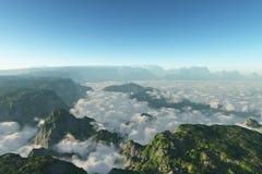 заволакивает гора Стоковое Фото