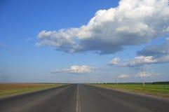 заволакивает дорога Стоковое фото RF