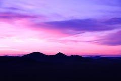 заволакивает заход солнца Стоковое фото RF