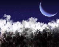 заволакивает звезда неба Стоковое Изображение RF