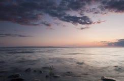 заволакивает место океана Стоковое фото RF