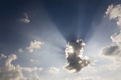 заволакивает небо Стоковые Изображения RF