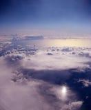 заволакивает океан сверх Стоковая Фотография RF