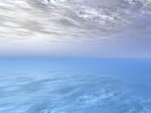 заволакивает океан Стоковая Фотография RF