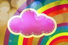 заволакивает цветастые радуги конструкции Стоковая Фотография RF