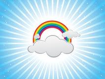заволакивает цветастые радуги конструкции Стоковые Фото
