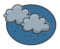 заволакивает дождь иллюстрации Стоковое Изображение