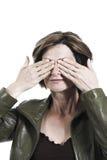 заволакивание eyes руки ее женщина Стоковые Фотографии RF