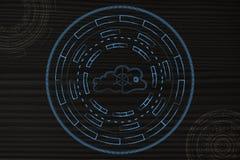 Заволоките вычислять при безопасная дверь окруженная абстрактной технологией Стоковые Изображения RF