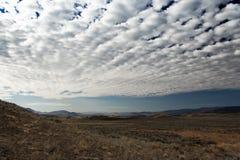 заволокли небо Монтаны ландшафта Стоковое Изображение