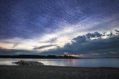 заволакивает восход солнца Стоковые Фотографии RF