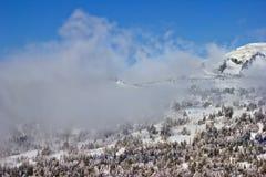 заволакивает горы Стоковое фото RF