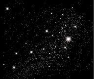 заволакивает звезды неба принципиальной схемы Стоковая Фотография