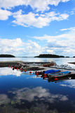 заволакивает отражения озера Стоковое Изображение
