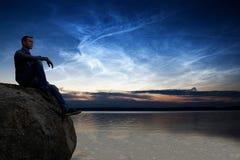 заволакивает noctilucent Стоковая Фотография