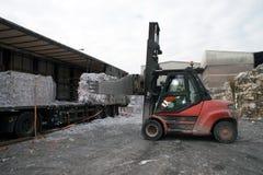 Завод бумажной фабрики - бумага и картон для рециркулировать Стоковые Фото