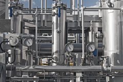 завод близкого газа самомоднейший естественный обрабатывая вверх Стоковые Фото