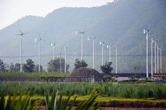 Завод ветротурбины или ветрянки в Phetchaburi Таиланде Стоковые Изображения