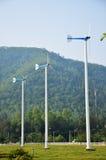 Завод ветротурбины или ветрянки в Phetchaburi Таиланде Стоковые Изображения RF