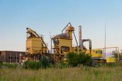 Завод в поле Стоковое Изображение