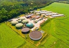 Завод и ферма лэндфилл-газа стоковая фотография rf