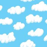 Заволоките предпосылка облака предпосылки (безшовной на всех 4 сторонах) (безшовная на всех 4 сторонах) Стоковое Изображение RF