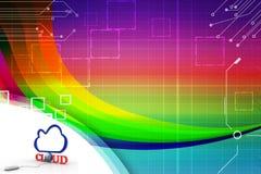 Заволоките при земля глобуса соединяясь с иллюстрацией прибора мыши Стоковое Изображение RF