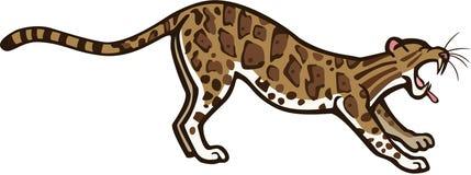 Заволокли леопард зевая иллюстрация вектора