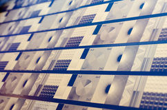 Завод печатания - компьютер для того чтобы покрыть отдел стоковая фотография rf