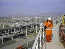 Завод по обработке масла & газа Стоковая Фотография