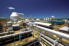 Завод по обработке мельницы сахарного тростника промышленный в Бразилии стоковое изображение