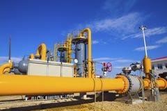 Завод по обработке нефти и газ стоковое фото rf
