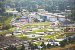 Завод по обработке сточных водов Стоковая Фотография