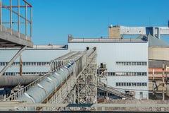Завод промышленного здания для продукции сахара от сахара Стоковые Фото