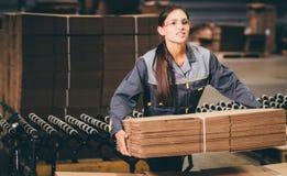 Заводской рабочий бумажной фабрики Стоковые Фотографии RF