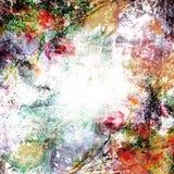завод сухих флористических grungy листьев предпосылки старый бумажный запятнал сбор винограда Стоковое Изображение RF