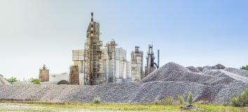 завод цемента Стоковое Изображение