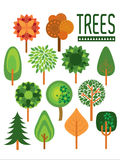 Заводы и деревья /illustration Стоковое Изображение