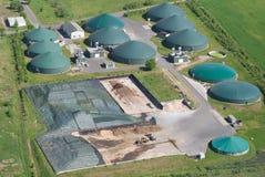 Завод лэндфилл-газа, взгляд глаза птицы Стоковое Изображение
