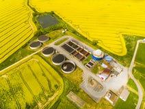 Завод лэндфилл-газа стоковая фотография rf