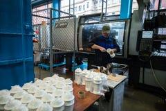 Завод для обрабатывать пластмасс стоковая фотография