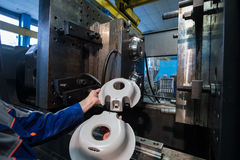 Завод для обрабатывать пластмасс стоковые фото