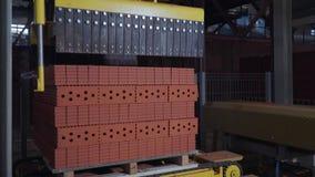 Завод для продукции кирпичей Завод для строительного материала продукции с готовым кирпичом, конструкцией промышленной видеоматериал