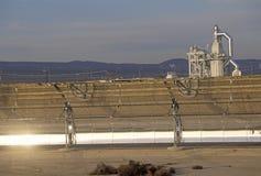 Завод LUZ солнечный в Barstow, CA стоковые изображения rf