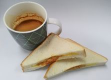 Завтрак бизнесмена Стоковая Фотография
