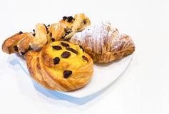 Завтрак бриошей типичный итальянский стоковое изображение