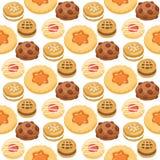 Завтрак взгляд сверху тортов печенья сладостный домодельный печет иллюстрацию вектора предпосылки картины печенья печенья еды без Стоковая Фотография RF