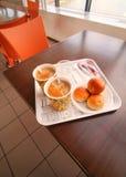 Завтрак в кафе Стоковое Фото